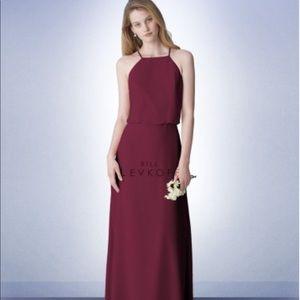 Bill Levkoff WINE, Style 1265 Bridesmaid Dress